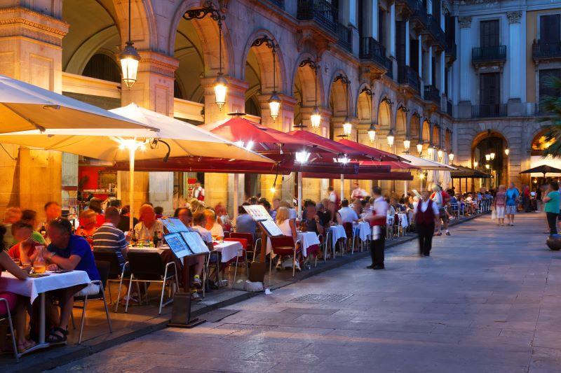 Een van de vele terrassen in Barcelona